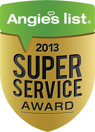McFall Roofing Angie's List Award for 2013