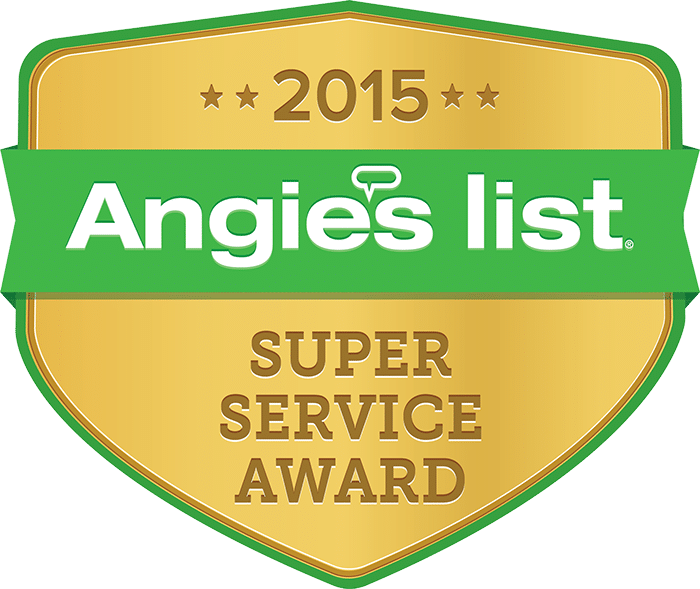 McFall Roofing Angie's List Award for 2015