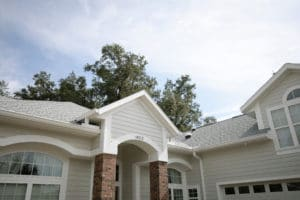 Residential home with a new roof