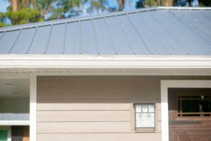 Metal roof on a residential home